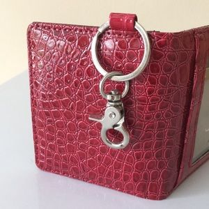 Francesca's Collections Bags - Francesca's Red Faux Leather Wallet with Key Ring
